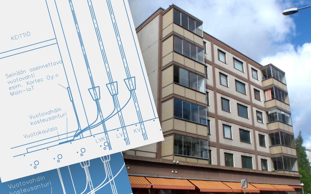 Case: Sitowise – Älykkäät Main-IoT vuotovahdit ehkäisevät kosteusvaurioita asuinkerrostalossa